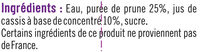 Nectar prune-cassis édition limitée - Ingrédients