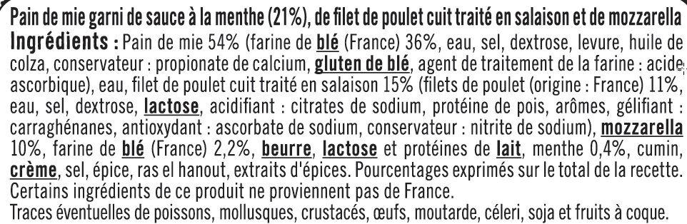 Croque à Poêler Saveur Kebab - Ingrédients - fr