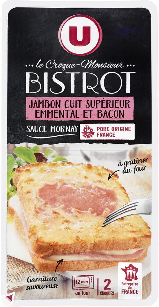 Croque bistrot jambon supérieur emmental et bacon - Produit - fr