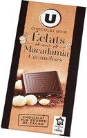 Chocolat noir Eclats de noix de macadamia caramélisés - Produit