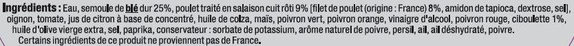 Taboulé au poulet - Ingredients - fr