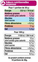 Spécialité de saucisson sec - Nutrition facts