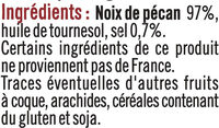 Noix de pécan grillées et salées - Ingrediënten - fr