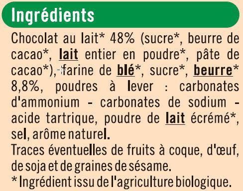 Petit beurre chocolat au lait tablette - Ingrédients - fr