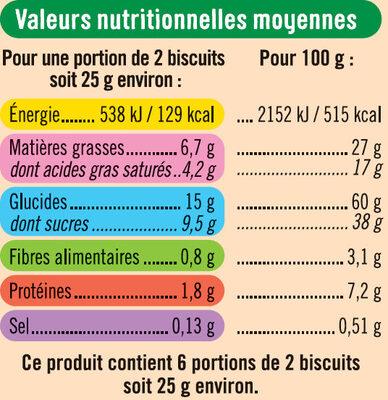 Petit beurre chocolat au lait tablette - Informations nutritionnelles - fr