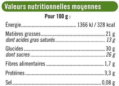 Bâtonnets envie de glace pistache - Nutrition facts