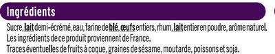 Mini cannelés de Bordeaux - Ingredients
