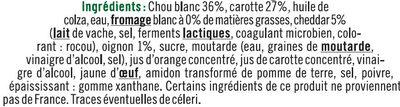 Coleslaw carottes cheddar et oignons - Ingredients