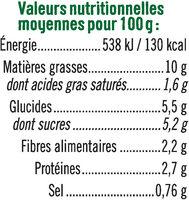 Coleslaw carottes cheddar et oignons - Nutrition facts