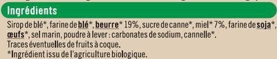 Mini gaufres fourrées au miel Bio - Ingredients - fr