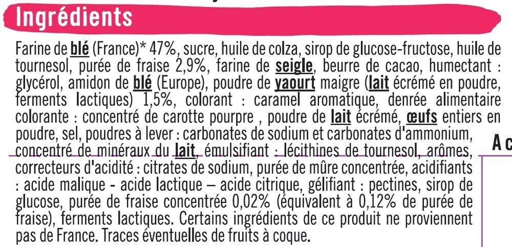 Sablés fourrés parfum yaourt fraise - Ingredients
