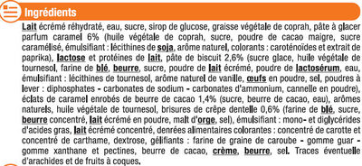 Feuilleté glacé parfum crème brulée - Ingrédients
