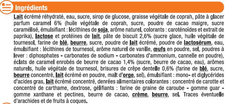 Feuilleté glacé parfum crème brulée - Ingrédients - fr