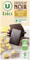Chocolat noir au citron et gingembre - Produit