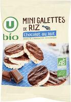 Mini galette de riz nappée de chocolat au lait - Produit - fr