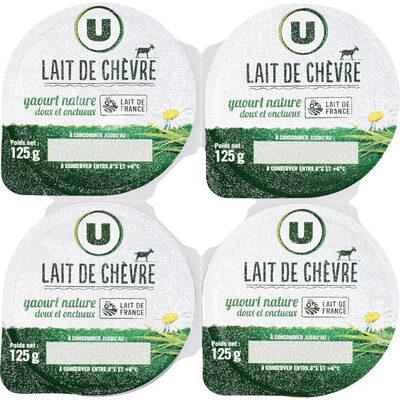 Yaourt au lait de chèvre nature - Produit - fr