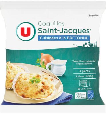 Coquilles St Jacques MSC 30% noix cuisinées à la bretonne - Product - fr