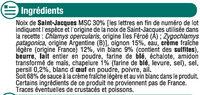 Coquilles St Jacques MSC 30% noix cuisinées à la bretonne - Ingrediënten - fr