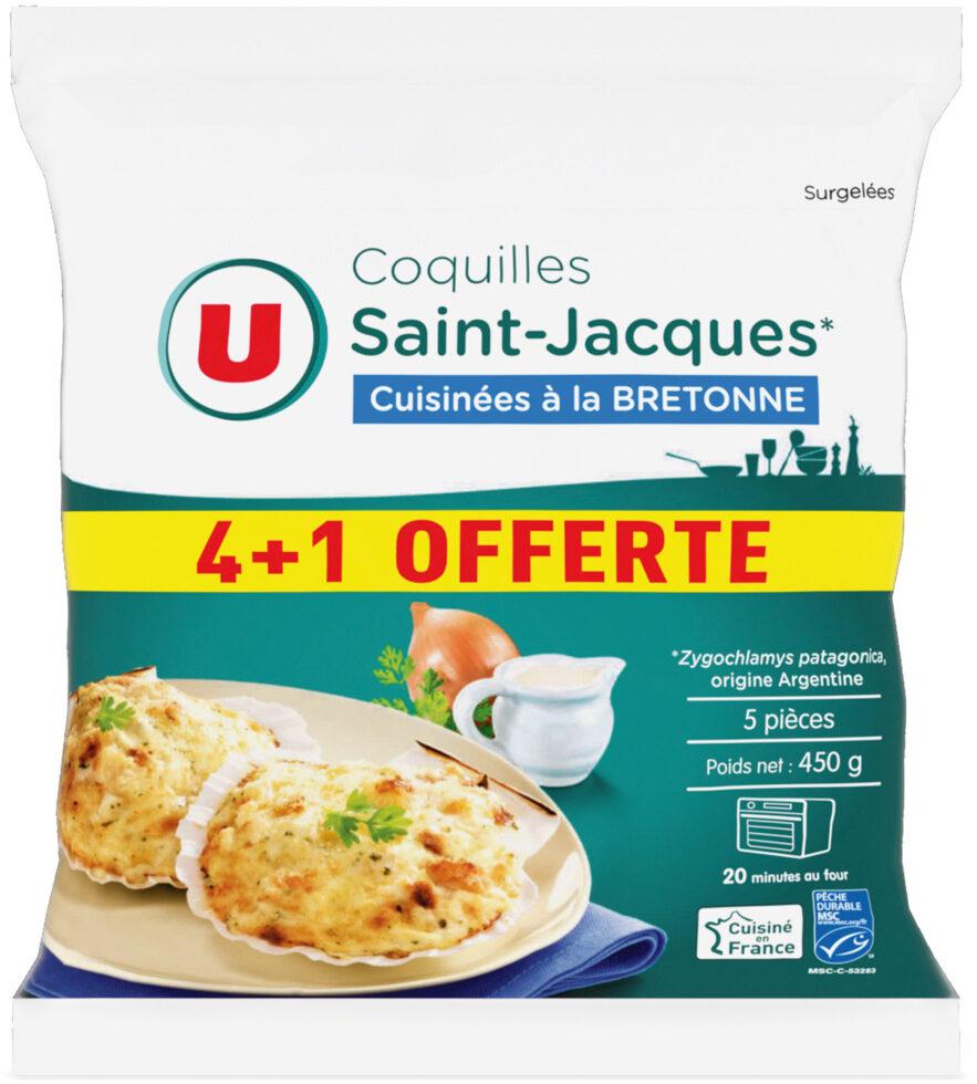 Coquilles St Jacque MSC 30% de noix cuisiné à la bretonne - Product
