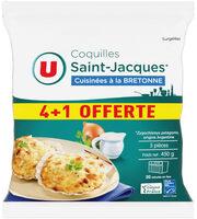 Coquilles St Jacque MSC 30% de noix cuisiné à la bretonne - Produit - fr
