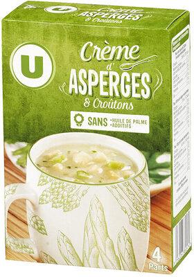 Soupe instantanée aux asperges et croûtons - Produit