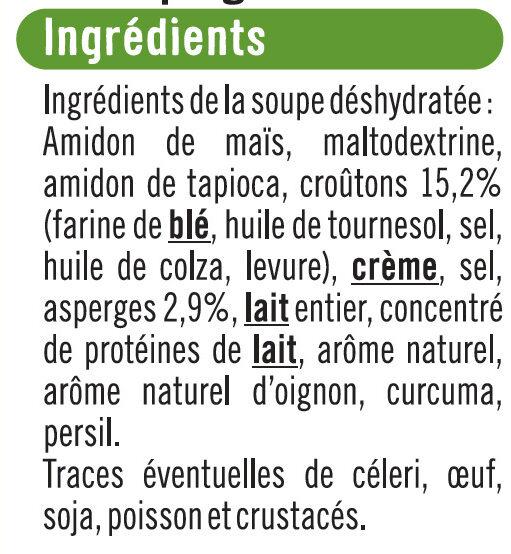 Soupe instantanée aux asperges et croûtons - Ingrédients