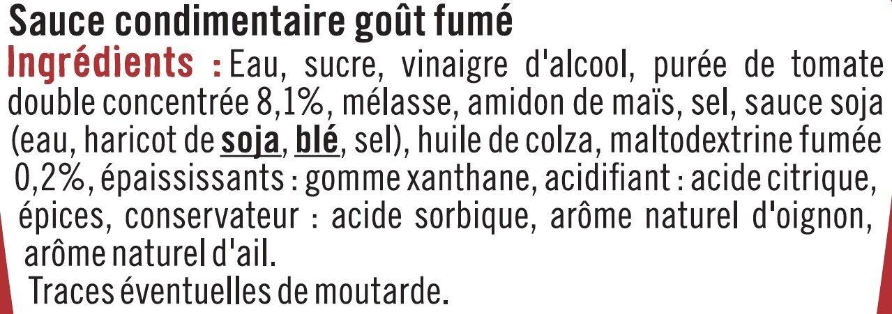 Sauce barbecue - Ingrédients