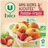 Purée pomme fraise sans sucres ajoutés - Produit