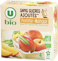 Purée pomme mangue sans sucres ajoutés - Produit