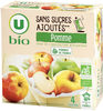 Purée de pomme sans sucres ajoutés - Produit