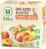 Purée pomme abricot sans sucres ajoutés - Produit