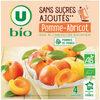 Purée pomme abricot sans sucres ajoutés - Product