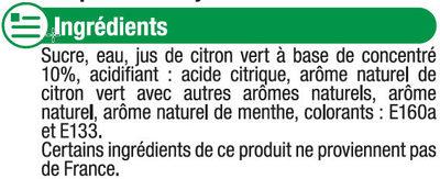 Sirop saveur mojito - Ingrédients - fr