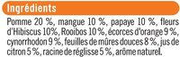 Infusion gourmande saveur fruits tropicaux - Ingredients