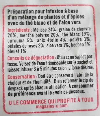 T'es jolie - Nutrition facts - fr