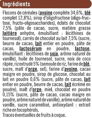 Croustillant aux 2 chocolats - Ingrédients - fr