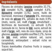 Croustillant aux amandes et pécan - Ingrédients - fr
