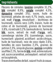 Croustillant aux fruits et graines - Ingrédients - fr
