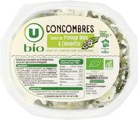 Salade de concombres sauce au fromage blanc et ciboulette - Produit - fr