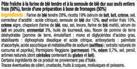 Ravioli aux 4 fromages - Ingrédients