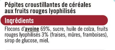 Croustillant fruits sans gluten - Ingrédients - fr