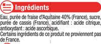 """Nectar de fraise d'Aquitaine """"fruits de chez nous"""" - Ingrédients - fr"""