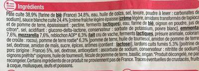 Pizza hiver tartiflette - Ingredients - fr