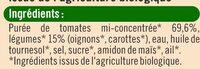 Sauce tomate aux petits légumes - Ingrédients - fr