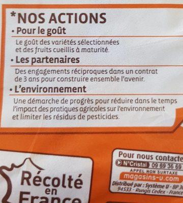 Pomme golden délicious, calibre 115/150 catégorie 1 - Ingredients