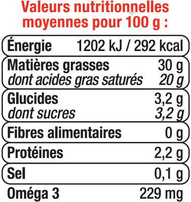 Crème liquide 30% MG - Informations nutritionnelles - fr
