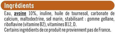 Boisson végétale saveur avoine - Ingredients