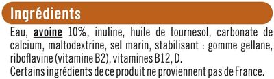 Boisson végétale saveur avoine - Ingrédients - fr