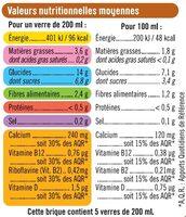 Boisson végétale saveur avoine - Informations nutritionnelles - fr