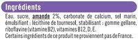 Boisson végétale saveur amande - Ingrédients - fr